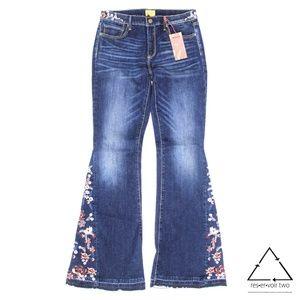 Driftwood Jeans Farrah Flower Girl Flare Jeans